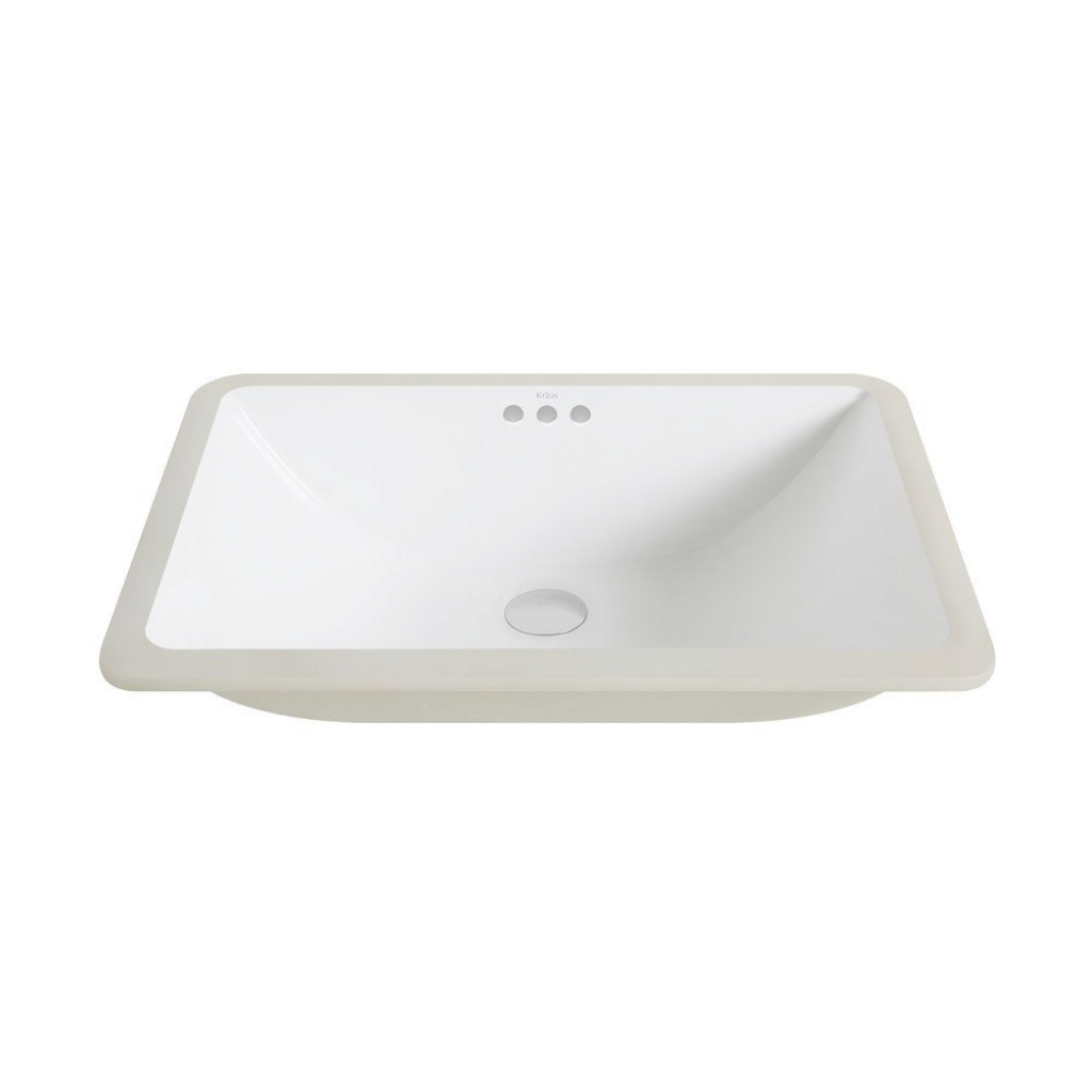 Lovely Kraus Elavo Large Rectangular Ceramic Undermount Bathroom Sink In regarding Large Bathroom Sinks