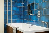 Lovely Large Blue Bathroom Tiles Unique Design Ideas Blue Tile Bathroom intended for Unique Blue Bathroom Shower Ideas