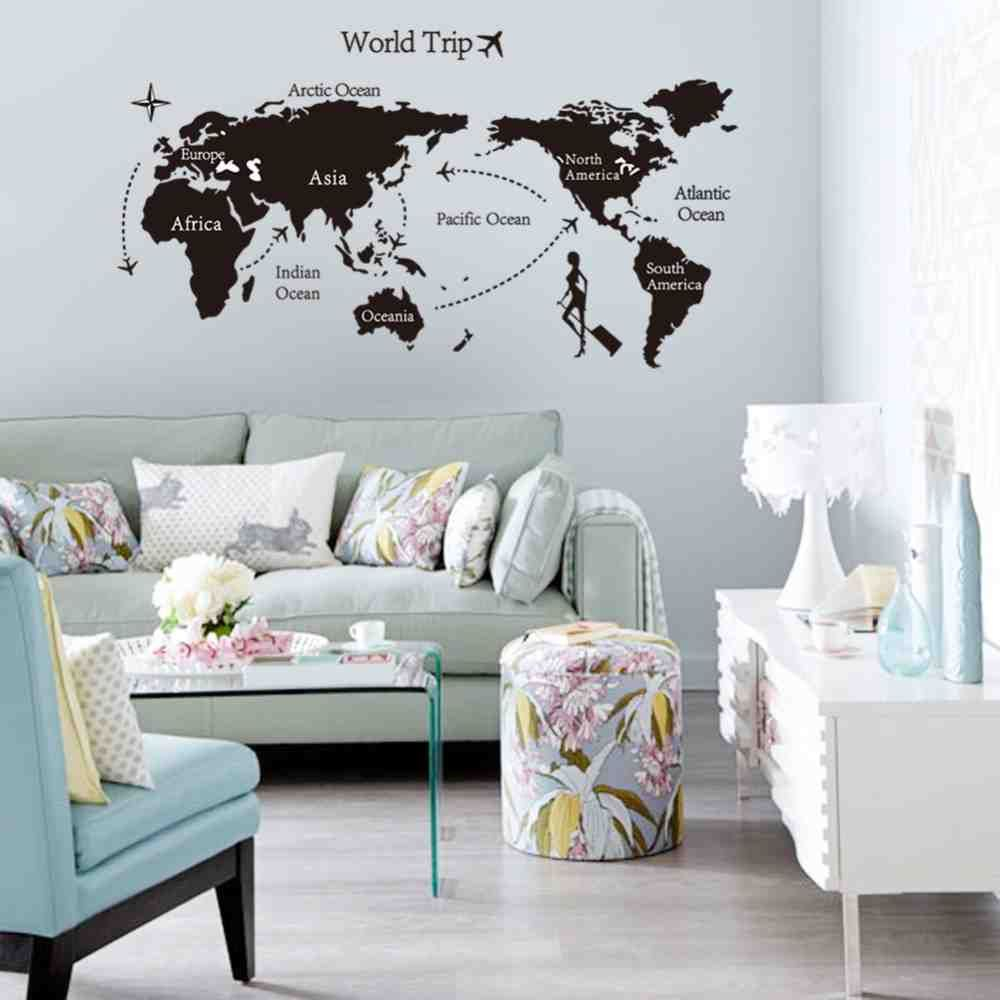Lovely Large Wall Stickers For Living Room | Living Room Wall Decor throughout Inspirational Living Room Decals