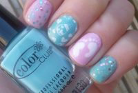 Lovely Lou Is Perfectly Polished: Baby Shower Nails within Luxury Baby Shower Nails