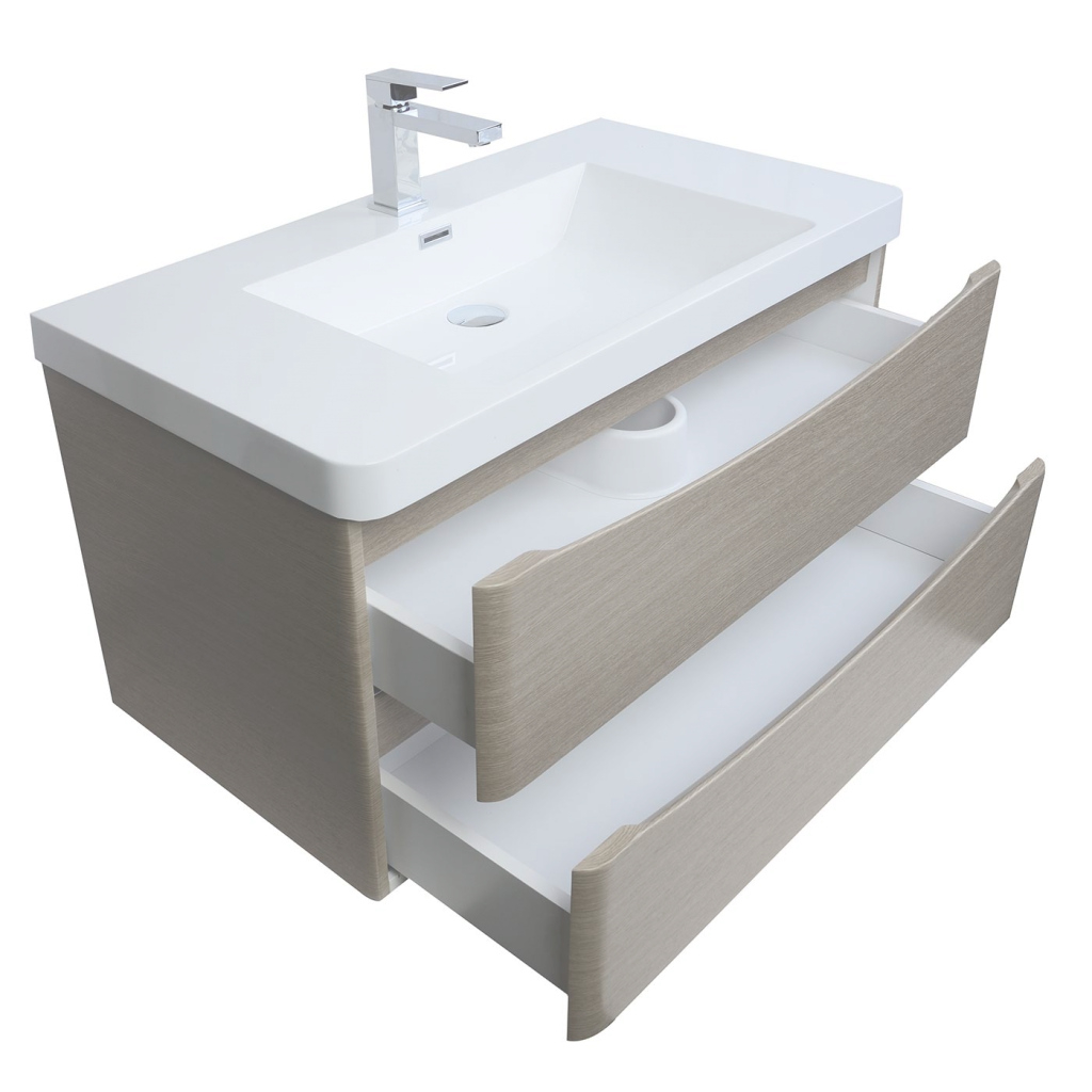 Lovely Merida Inch Wall Mount Bathroom Vanity In Light Pine Bathroom intended for Wall Mount Bathroom Vanity