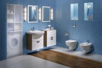 Lovely Minimalist Small Bathroom Design Interior Cool Custom Sink Vanity within Blue Bathroom Remodel