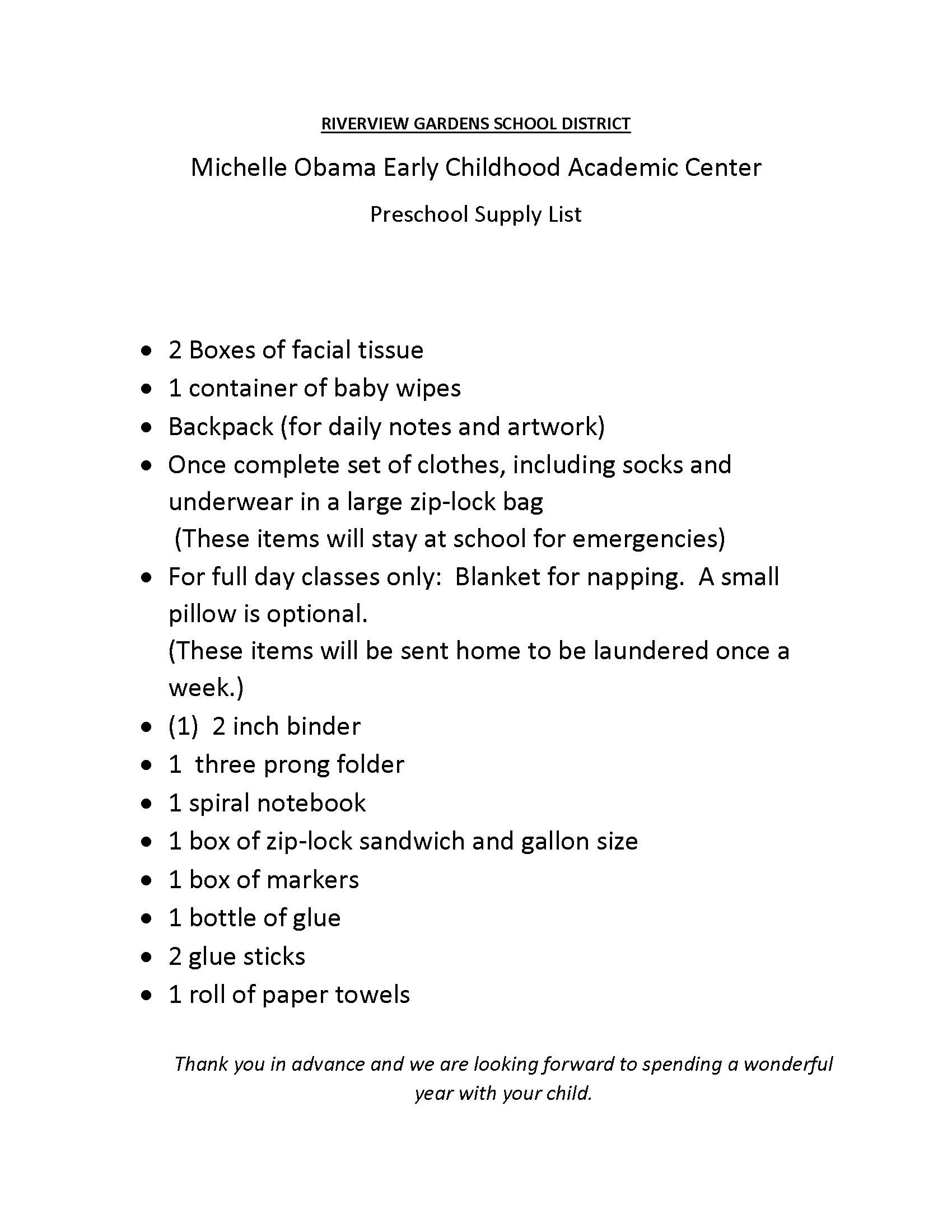 Lovely Mo-Ecac_2018-19_School_Supply_List for Gardens School Of Technology Arts