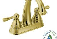 Lovely Moen Kingsley 4 In. Centerset 2-Handle High-Arc Bathroom Faucet In regarding Luxury Polished Brass Bathroom Faucets