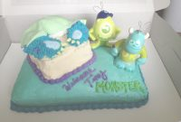 Lovely Monster Inc Baby Shower Cake (Bottom Layer: Vanilla Cake Swirled In regarding Monsters Inc Baby Shower Cake