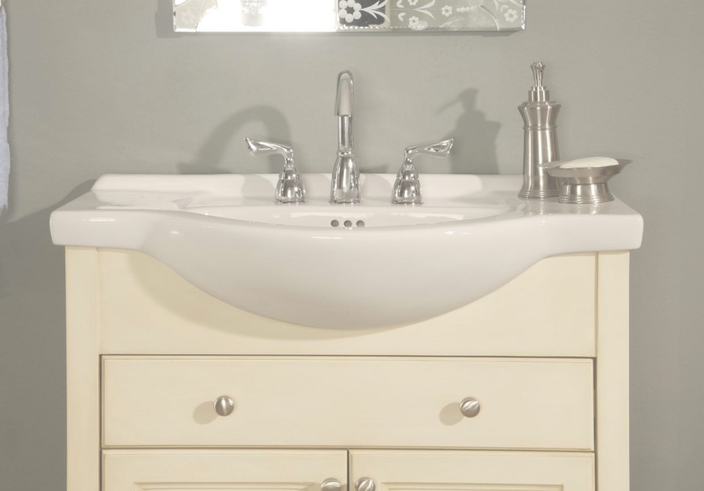 Lovely Narrow Bathroom Vanities For Alluring Vanity 18 Deep Depth Stylist intended for Set Bathroom Vanity 18 Depth