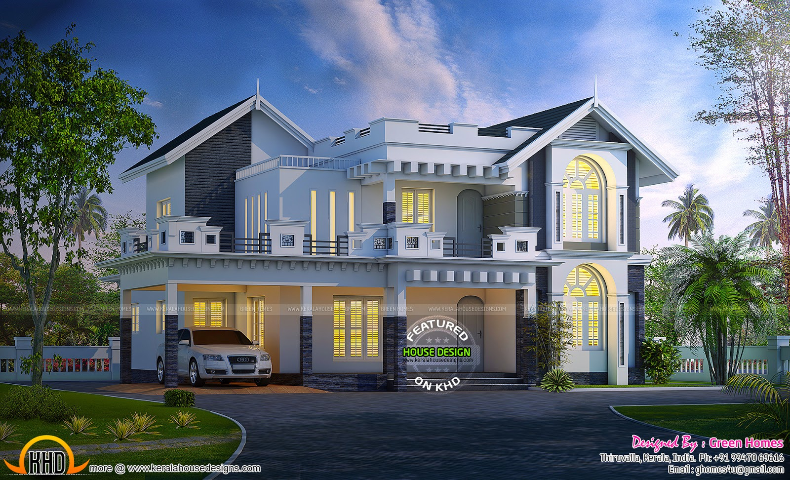Lovely New Model Kerala House Designs - Petadunia for New House Plans In Kerala
