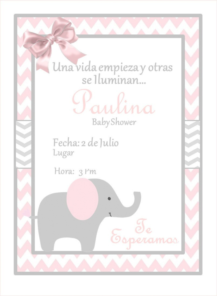 Lovely New!!!! Pink Elephant Baby Shower Invitation | Pinterest | Babies regarding Beautiful How Do You Say Baby Shower In Spanish