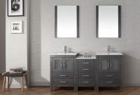 Lovely Nice Looking Grey Polished Ikea Bathroom Vanity Double Sink Added throughout Bathroom Vanities Ikea