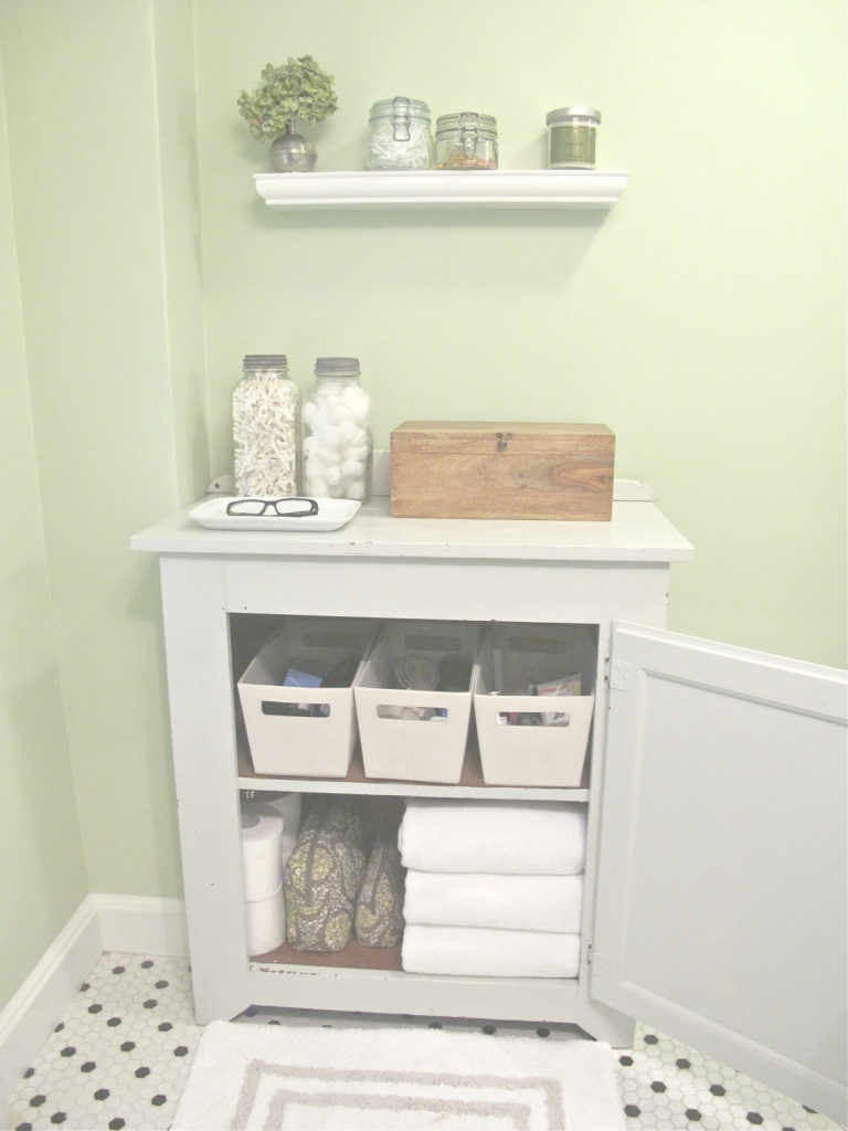 Lovely Old And Vintage Diy Small Bathroom Tissue, Towel And Box Storage intended for Bathroom Storage Cabinet Ideas