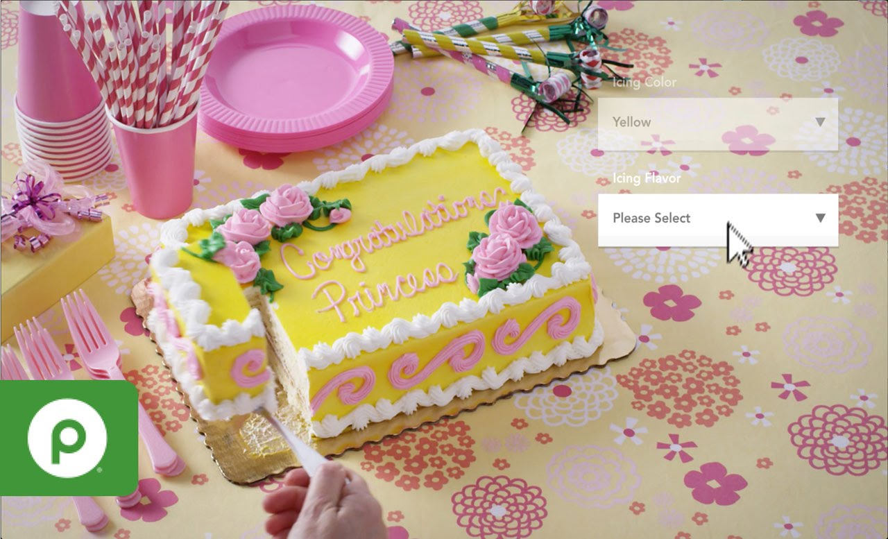 Lovely Order Custom Bakery Cakes With Publix Online Easy Ordering - Youtube pertaining to Luxury Baby Shower Cakes Publix