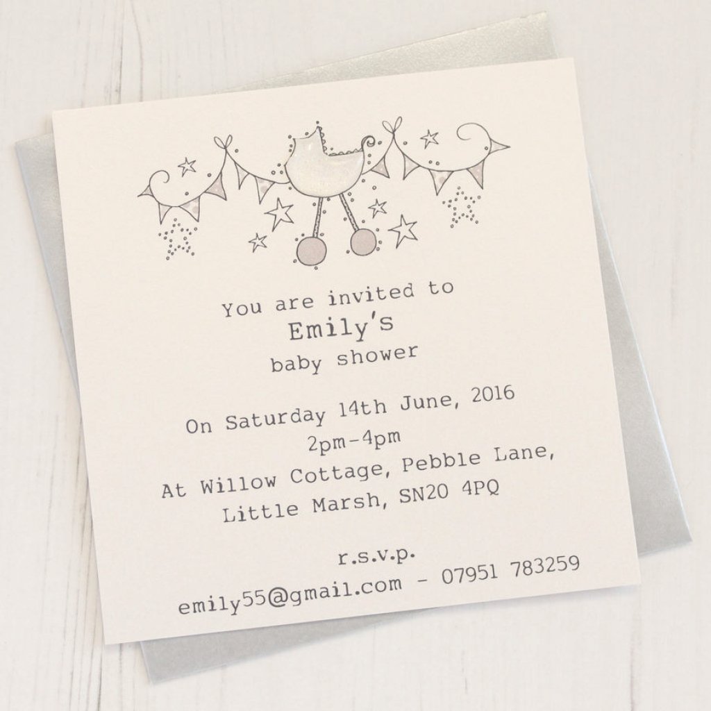 Lovely Personalised Baby Shower Invitation Packeggbert & Daisy intended for Baby Shower Invitations