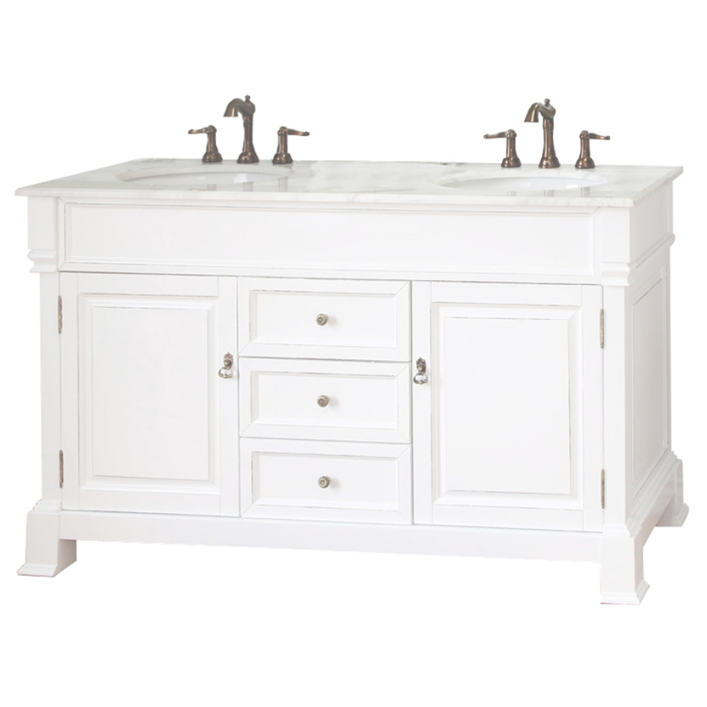 Lovely Shop Bellaterra Home White (Rub Edge) Double Sink Vanity With White regarding Fresh Lowes Bathroom Vanities