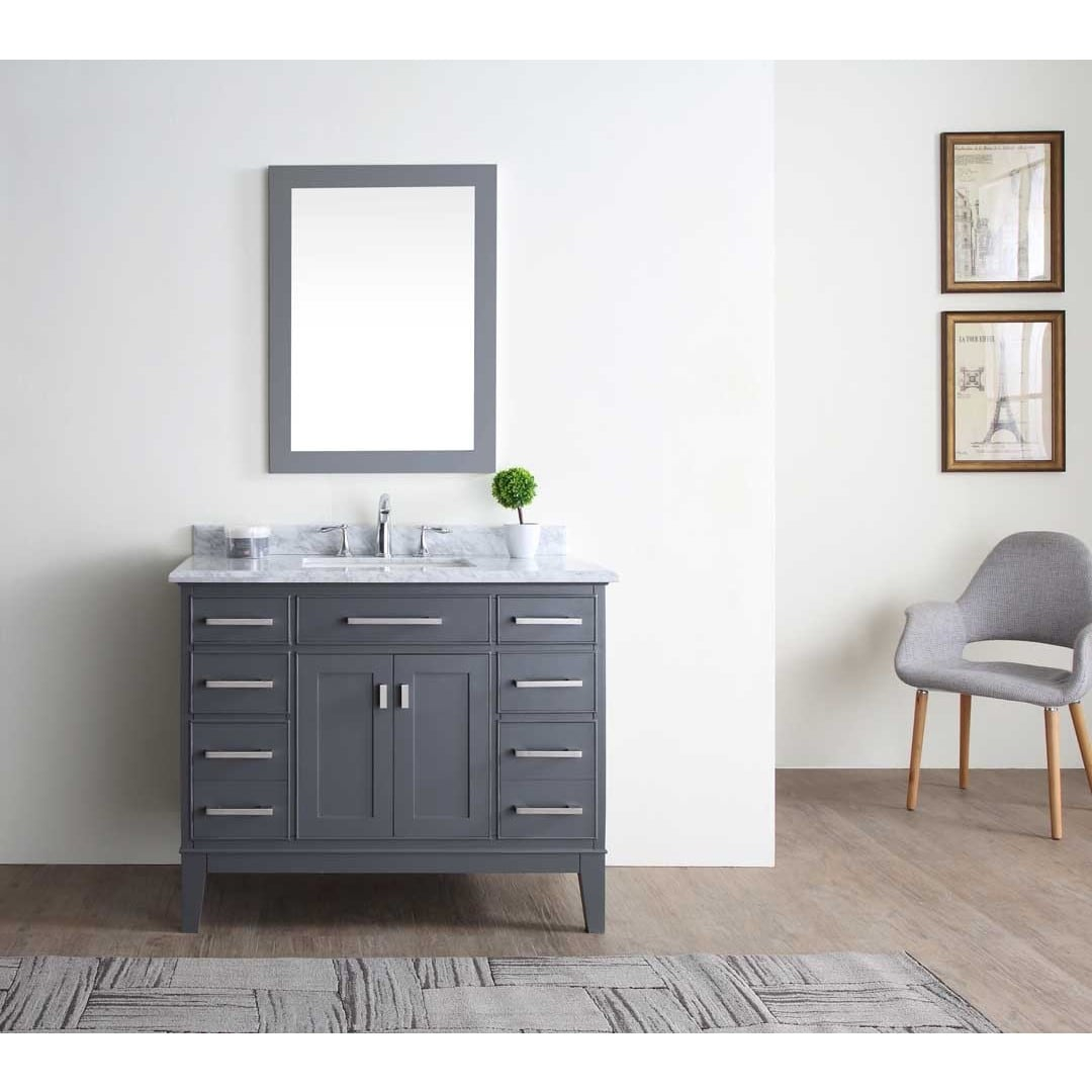 Lovely Shop Danny Maple Grey 42-Inch Single Bathroom Vanity Set - Free regarding Awesome Bathroom Vanity Table