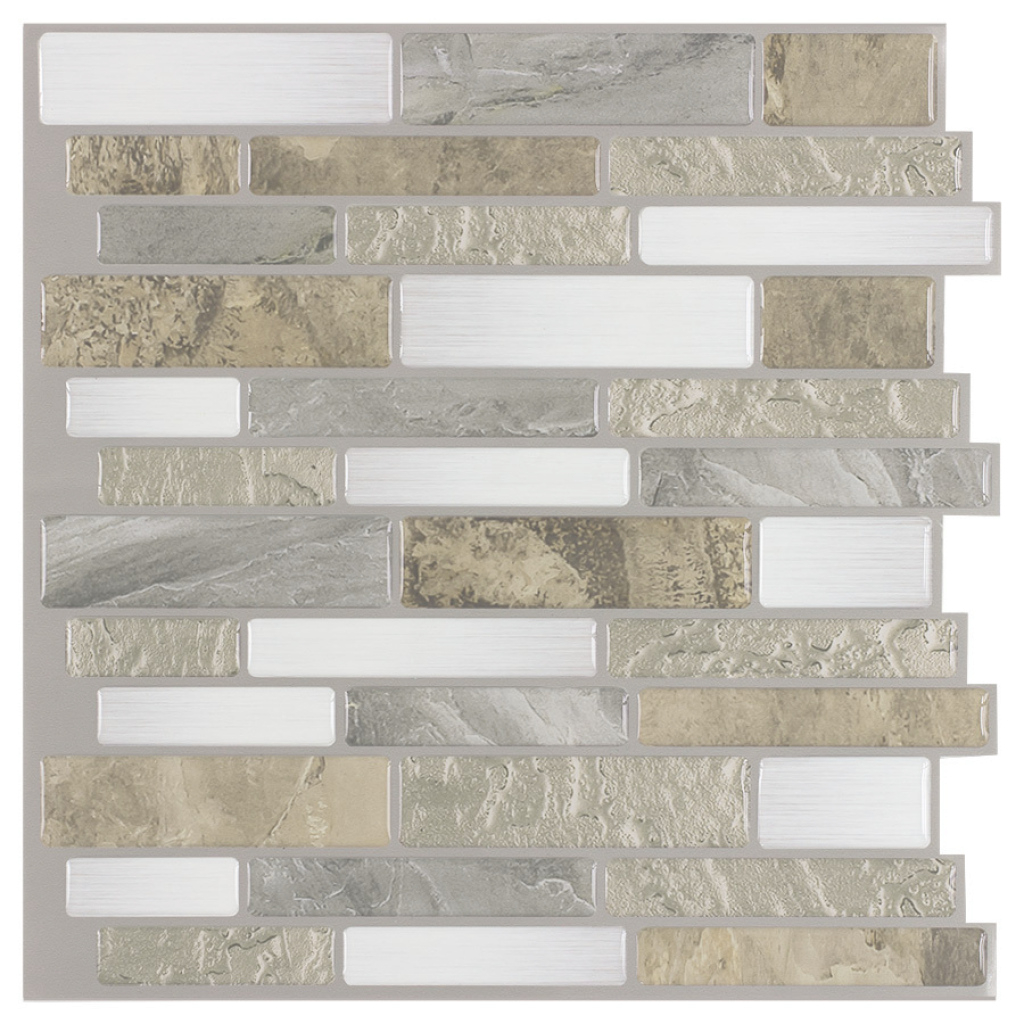 Lovely Shop Peel&stick Mosaics Mountain Terrain Linear Composite Wall Tile intended for Bathroom Floor Tile Lowes