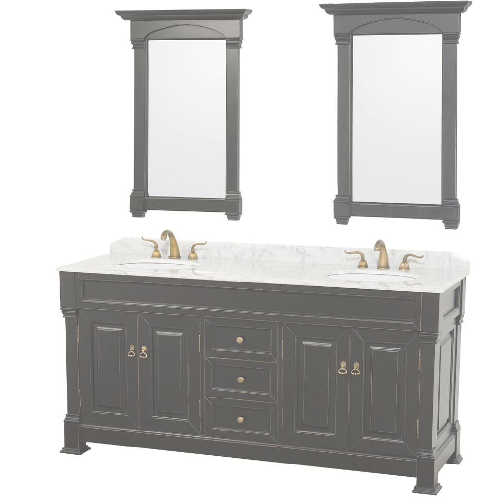 Lovely Shop Wyndham Collection Andover Black 72-Inch Solid Oak Double inside 72 Bathroom Vanities