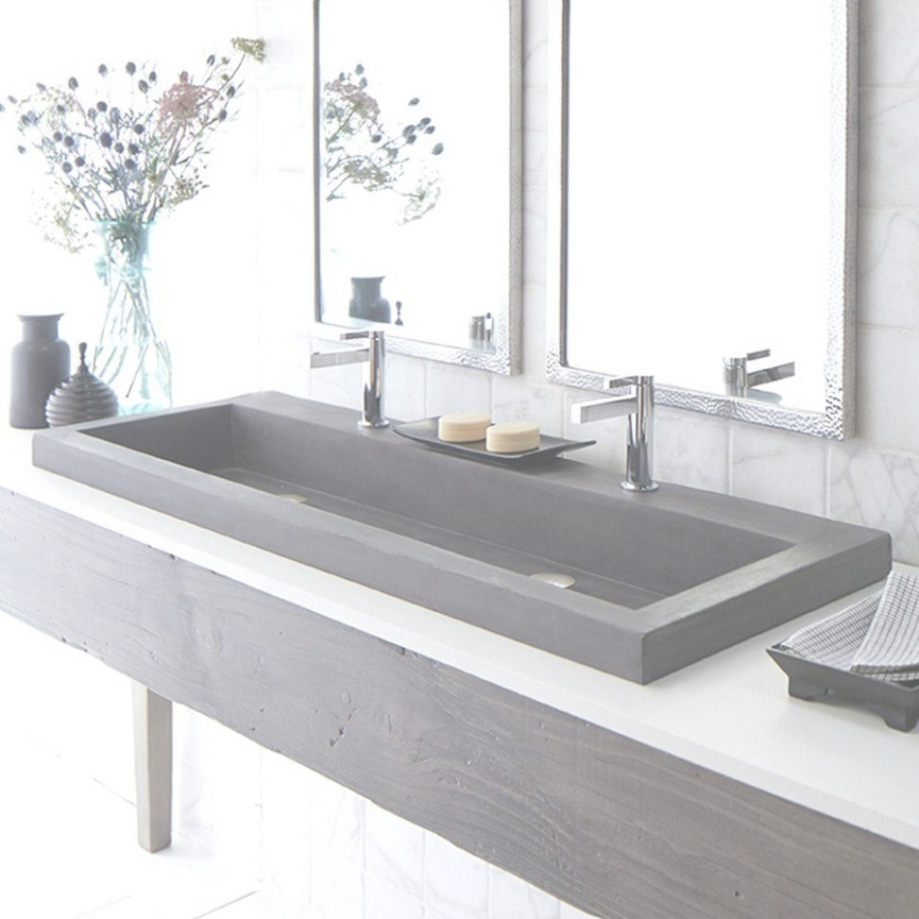 Lovely Sink : Undermount Trough Bathroom Sink Best Photoesign For Two 98 pertaining to Best of Trough Sink Bathroom