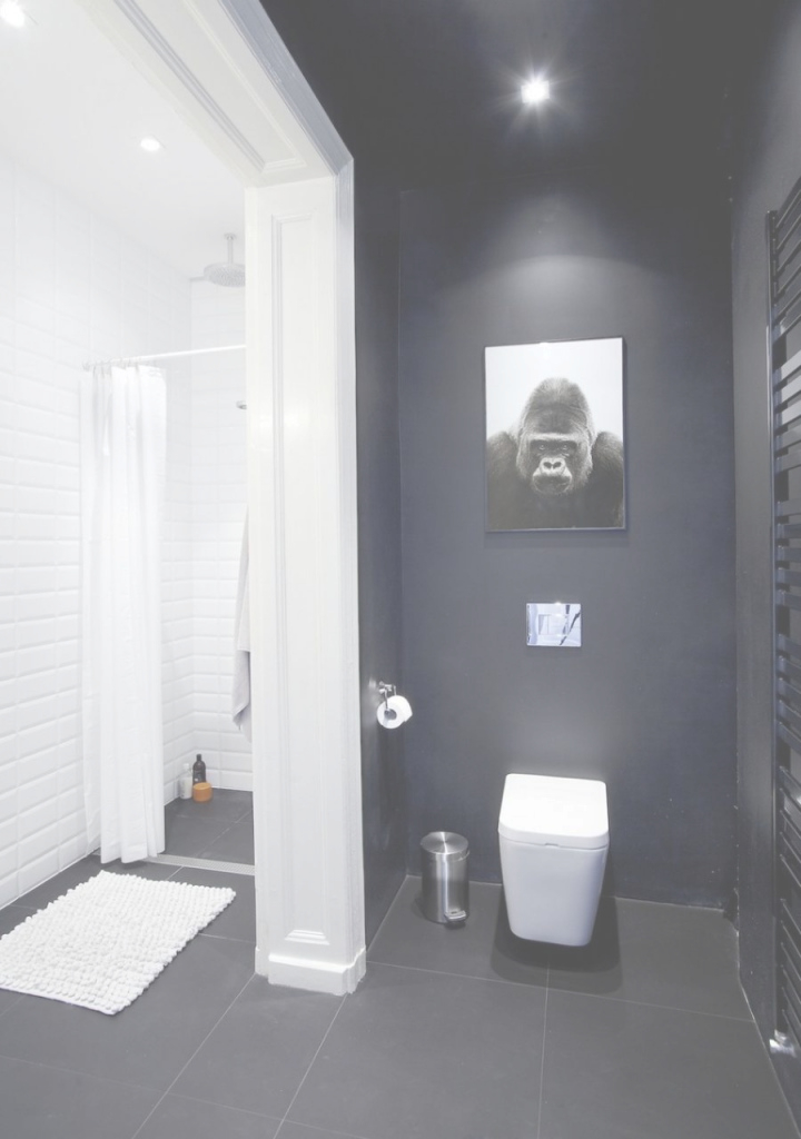 Lovely Small Apartment In Poznan, Poland Showcases Cool Scandinavian inside Good quality Black Bathroom Ideas