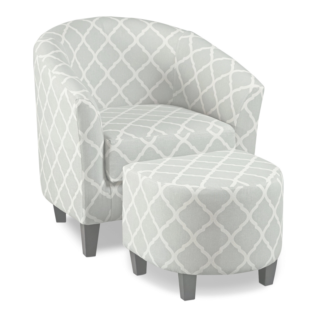 Lovely Sperrie Accent Chair And Ottoman - Gray | Value City Furniture And within Lovely Accent Chairs Living Room