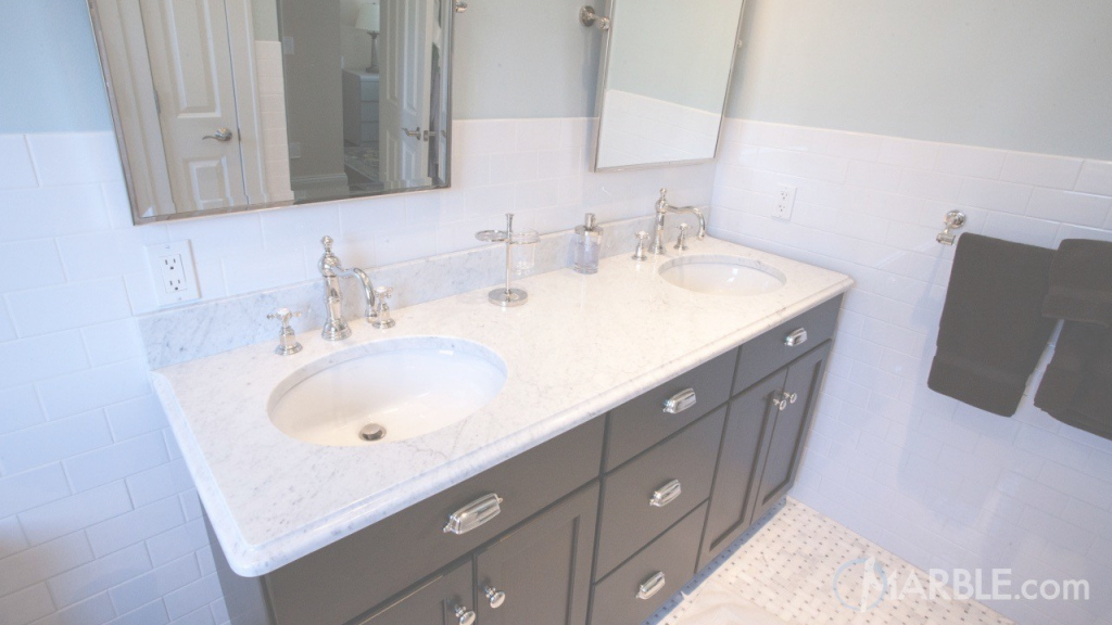 Lovely Statuario Marble Bathroom Vanity throughout Marble Bathroom Vanity