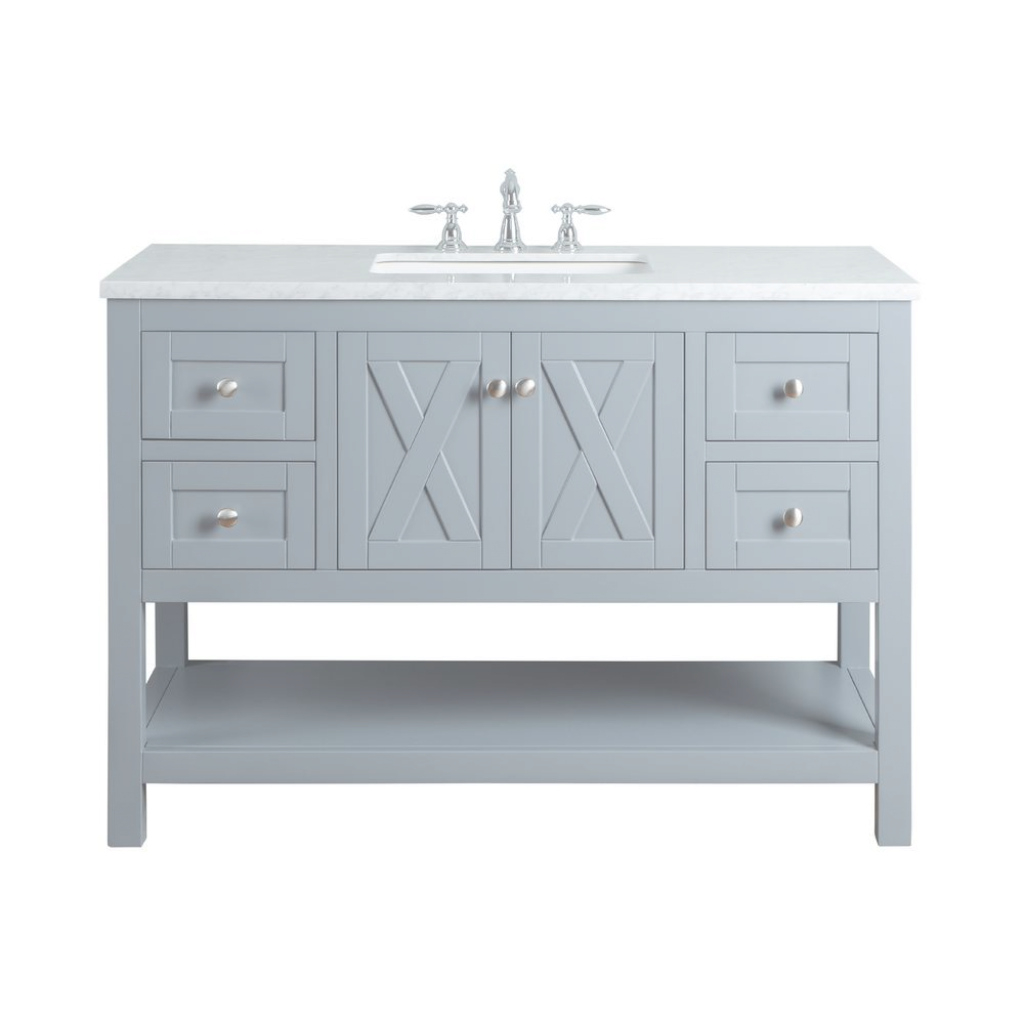 Lovely Stufurhome Anabelle 48 In. Grey Single Sink Bathroom Vanity With for Inspirational Single Sink Bathroom Vanity