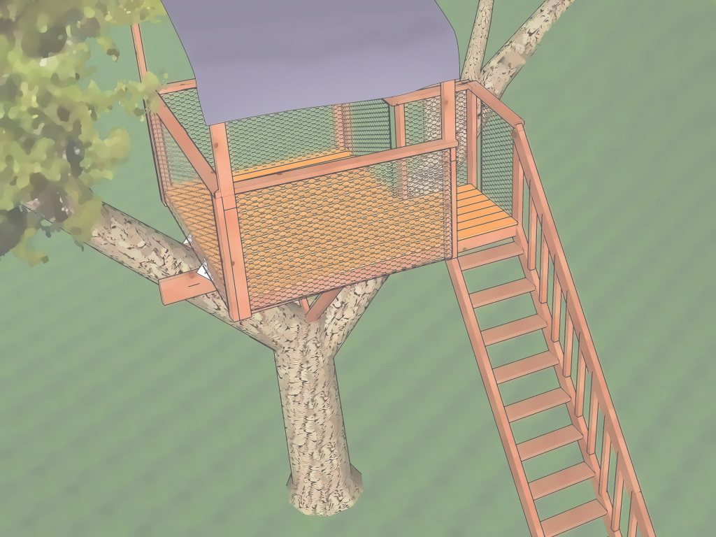 Lovely The Best Way To Build A Treehouse - Wikihow throughout Easy Treehouse Plans Free