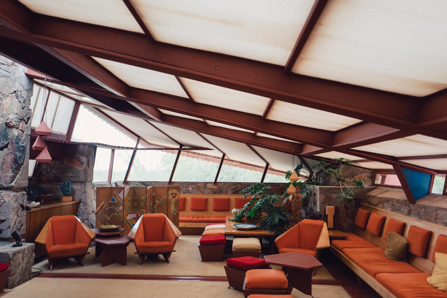Lovely The Private Living Room At Taliesin West, Frank Lloyd Wright's inside New The Living Room Scottsdale
