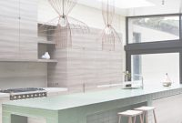 Lovely Tiled Kitchen Island In Contemporary Wood Kitchen At Layer House for New Tiled Kitchen Island