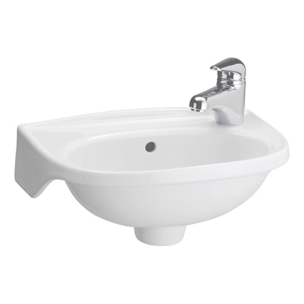 Lovely Tina Wall-Mounted Bathroom Sink In White-4-551Wh - The Home Depot inside Best of Bathroom Sink Small