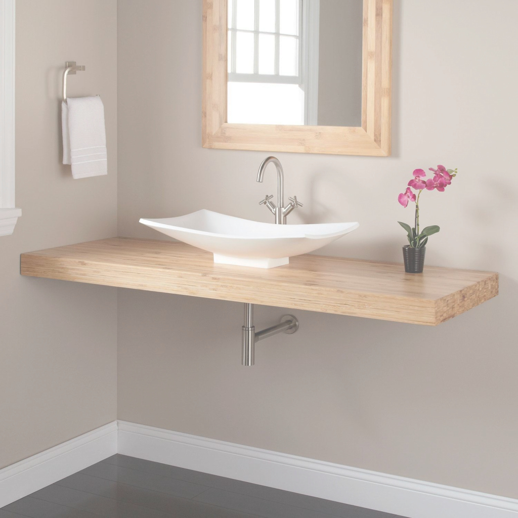 Lovely Top 64 Fantastic Single Sink Vanity Bathroom Tops Wall Hung 42 20 pertaining to Good quality Bamboo Bathroom Vanity