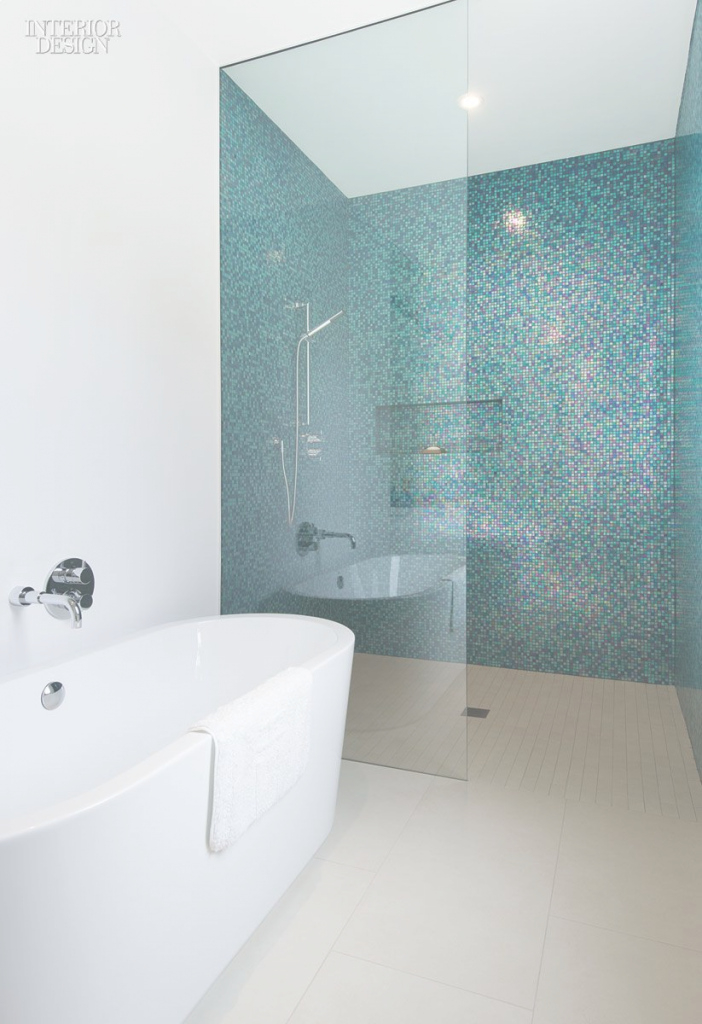 Lovely Turning Point: Minimal Toronto Housepaul Raff | Pinterest for Blue Bathroom Mosaic Tiles