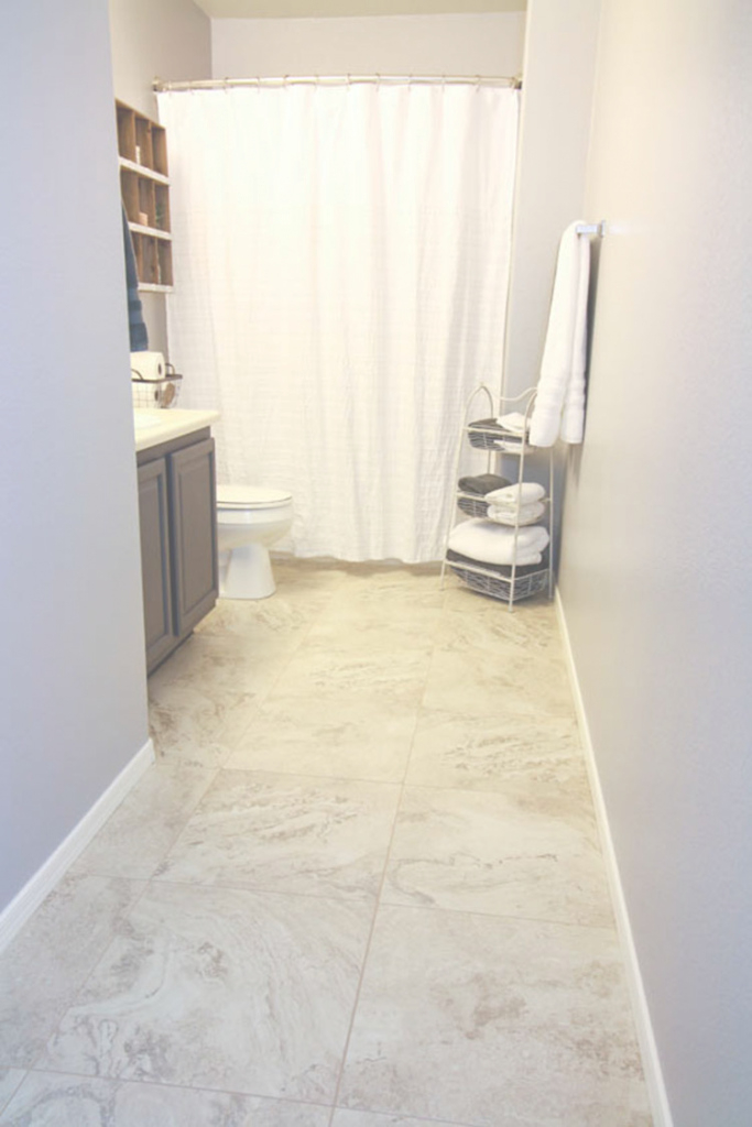 Lovely Update A Boring Bathroom With Vinyl Tile with regard to Vinyl Flooring For Bathroom