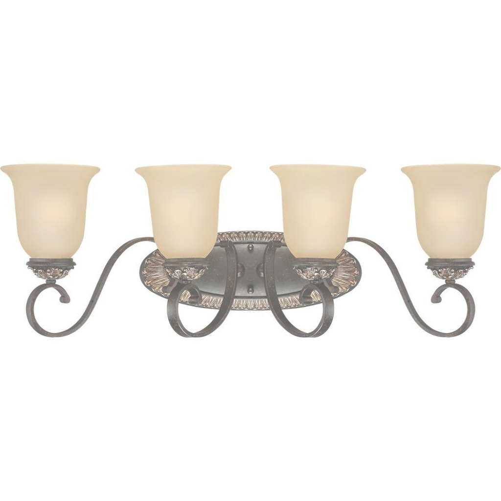 Lovely Volume Lighting Bristol 4-Light Vintage Bronze And Antique Gold for Gold Bathroom Vanity Lights