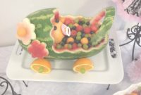 Lovely Watermelon Baby Girl Carriage – Use Excess Watermelon For Flowers regarding Review Watermelon Baby Shower
