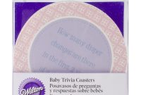 Lovely Wilton® 20 Ct. Baby Shower Trivia Coasters Game | Joann for Baby Shower Trivia