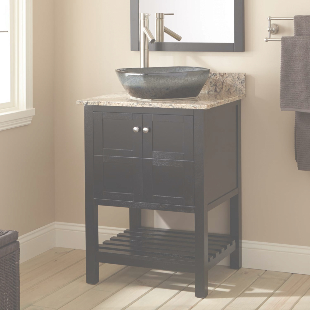 Modern 24 All Mirror Petite Bathroom Sink Vanity Ashlie Model Hf006 throughout Petite Bathroom Vanity