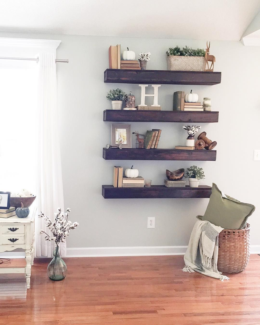 "Modern 337 Likes, 27 Comments - Bethany (@houseofholder) On Instagram: ""Now with Living Room Shelving"