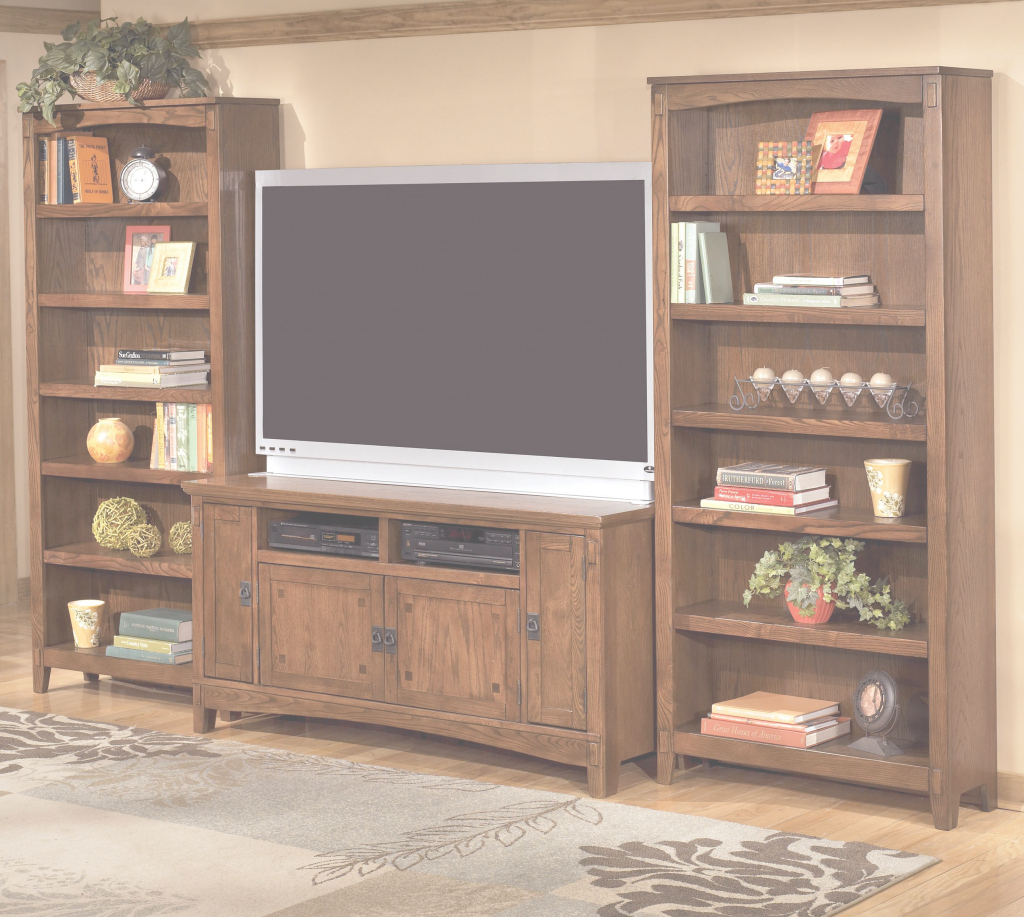Modern 60 inch tv stand amp 2 large bookcasesashley furniture wolf and