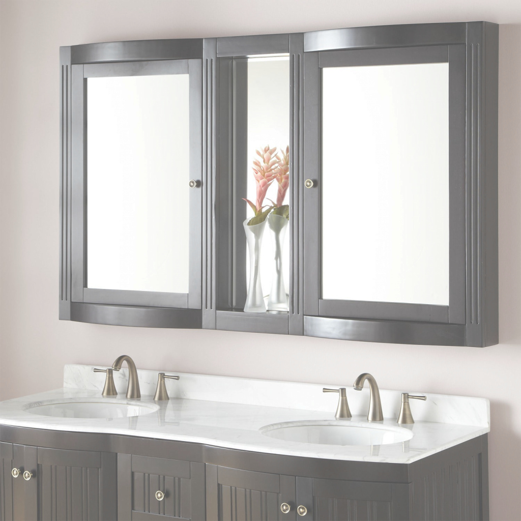 "Modern 60"" Palmetto Medicine Cabinet - Bathroom intended for Bathroom Mirror With Cabinet"