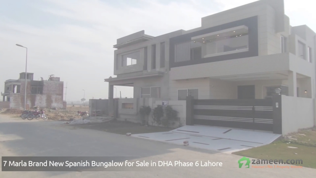 Modern 7 Marla Brand New Spanish Bungalow With Basement To Sale In Dha throughout Bungalow Seven