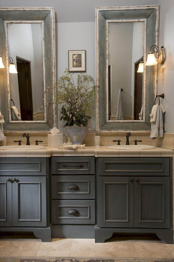 Modern 88 Modern Rustic Farmhouse Style Master Bathroom Ideas | Pinterest in Luxury Farmhouse Style Bathroom Vanity