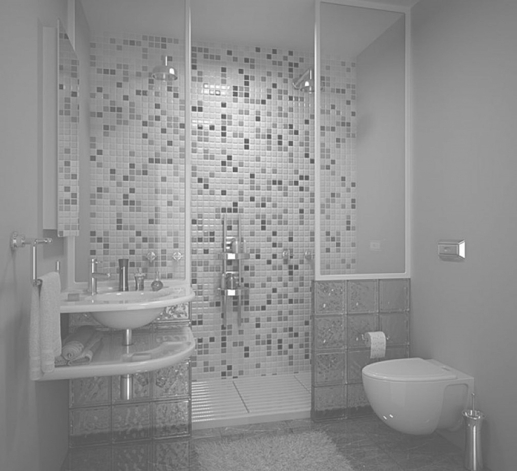 Modern Agreeable Tiny Grey Bathrooms Ideas With Modern Walk In Shower Also regarding White And Grey Bathroom Ideas
