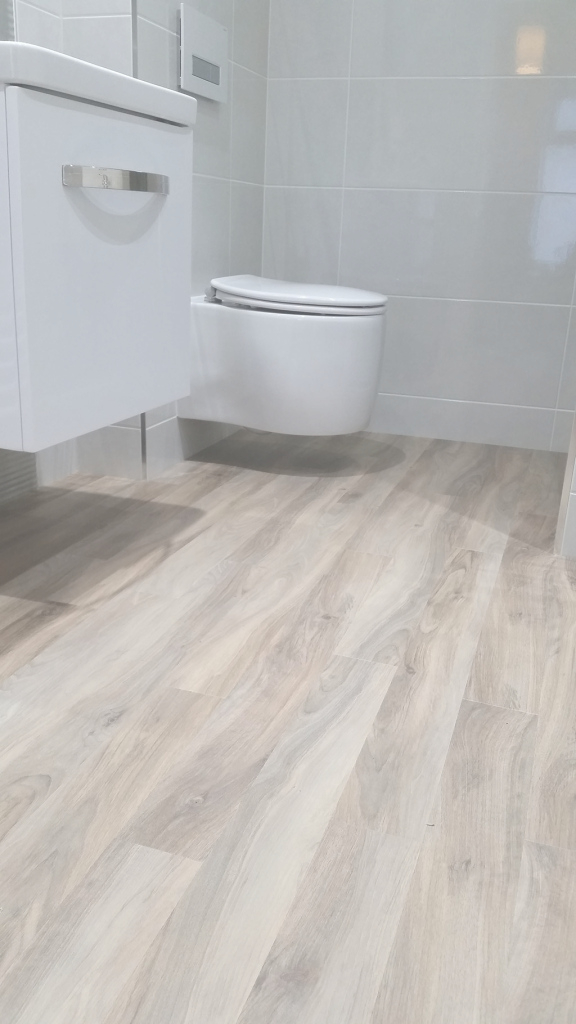 Modern Another Practical Karndean Bathroom Floor | Red Carpets Leicester in Good quality Cheap Bathroom Flooring