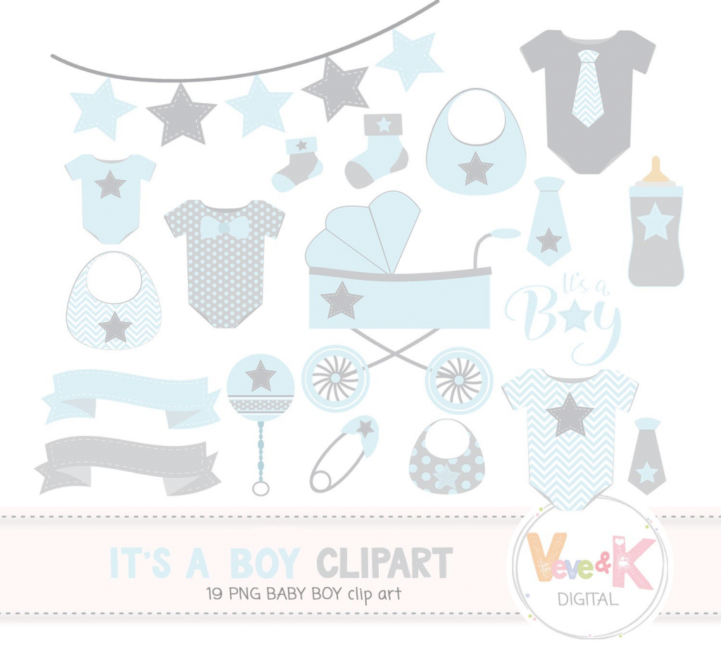Modern Baby Clip Art, Baby Boy Clipart, Baby B | Design Bundles throughout Luxury Baby Shower Its A Boy