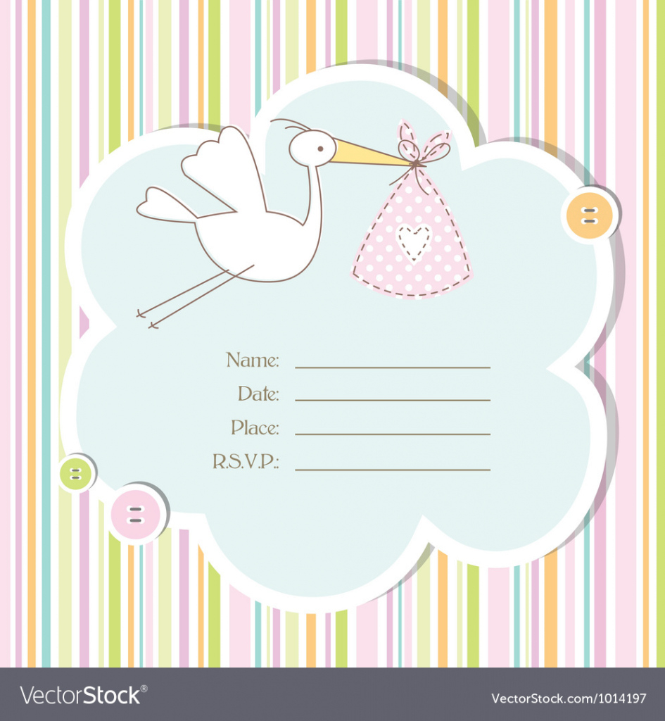 Modern Baby Shower Card Royalty Free Vector Image - Vectorstock with regard to Baby Shower Cards