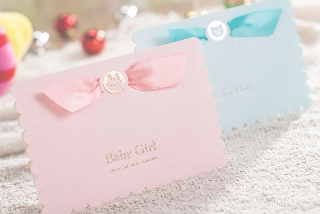 Modern Baby Shower Invitation Boys Girls Birthday Greeting Card Gifts Baby for Baby Shower Invitations
