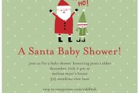 Modern Baby Shower Invitation Christmas Baby Shower Invitations Christmas within Set Christmas Baby Shower
