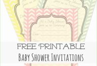Modern Baby Shower Templates Free Printable Amazing Baby Shower Invitation intended for Baby Shower Templates Free