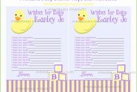 Modern Baby Shower Wish List Fresh Baby Shower Wish List Template 28 Images within Baby Shower List