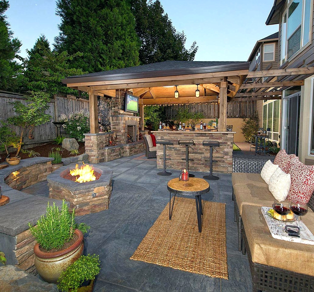 Modern Backyard Landscaping Ideas With Fire Pit | Outdoor Home Ideas within Review Backyard Landscaping Ideas With Fire Pit